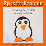My Father's World Kindergarten Craft and Copywork Pages ~ Pp is for Penguin