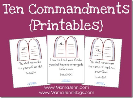 Ten Commandments {Printables & Copywork}