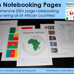 Discover Africa! Notebooking Packet
