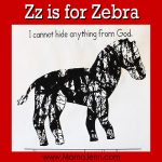 Zz for Zebra: MFW Kindergarten Printables