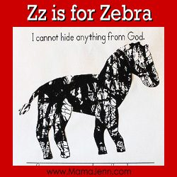 My Father's World Kindergarten Craft and Copywork Pages ~ Zz is for Zebra