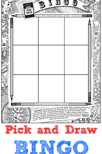 Pick and Draw BINGO {The New Updated Version}