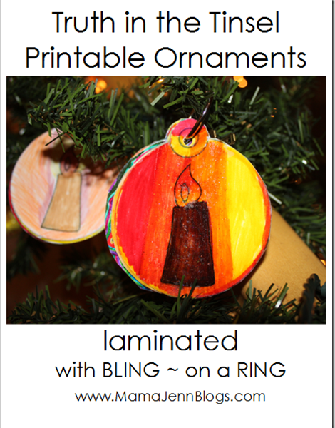 Truth in the Tinsel {Printable Ornaments}