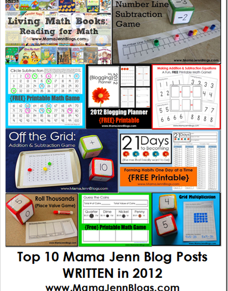 Top Ten Blog Posts {WRITTEN in 2012}