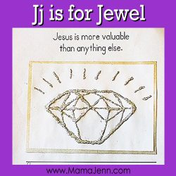 My Father's World Kindergarten Craft and Copywork Pages ~ Jj is for Jewel