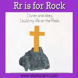 My Father's World Kindergarten Craft and Copywork Pages ~ Rr is for Rock