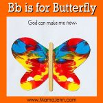 My Father's World Kindergarten Craft and Copywork Pages ~ Bb is for Butterfly