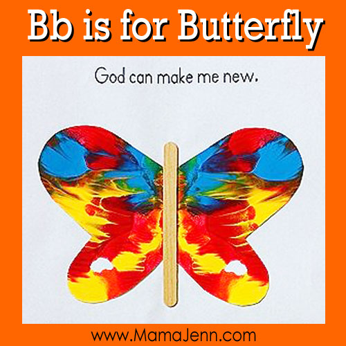 Bb for Butterfly: MFW Kindergarten Printables