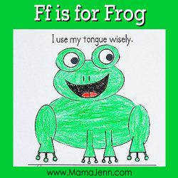 My Father's World Kindergarten Craft and Copywork Pages ~ Ff is for Frog
