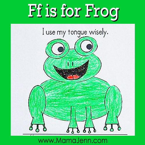 Ff for Frog: MFW Kindergarten Printables