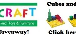 Nesting Sort & Stack Cubes & Cylinders {A Guidecraft Mom Review & Giveaway Link}