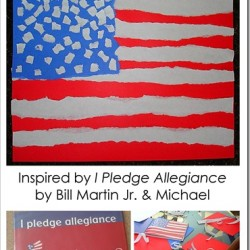 I Pledge Allegiance {Torn Paper Flag Craft}