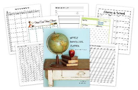 Weekly Homeschool Planner {Review & Giveaway}