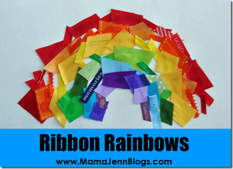 What Makes a Rainbow? Ribbon Art Craft