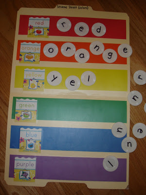 Sesame Street {Color Names} File Folder Game