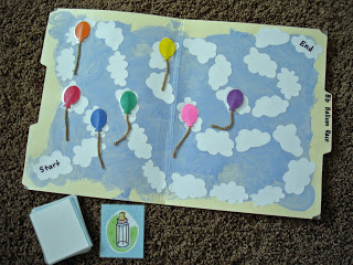 Balloon Race File Folder Game