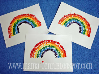 Rainbow Eraser Dot Painting