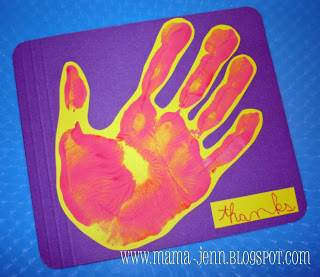 File Folder Handprint Cards
