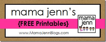 Mama Jenn's FREE Printables