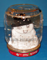 Homemade Snow Globes {Using Baby Food Jars}