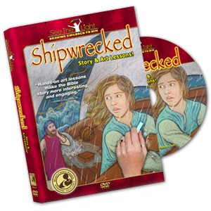 "SEE THE LIGHT ""Shipwrecked"" DVD: Bible Story & Art Lessons {Giveaway}"