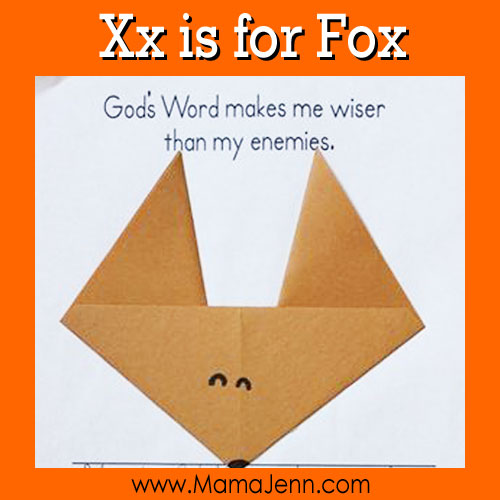 My Father's World Kindergarten Craft and Copywork Pages ~ Xx is for Fox