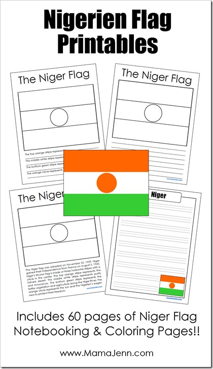 Niger Flag: 60 FREE Printable Notebooking and Coloring Pages