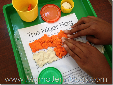 Niger Flag with Playdough