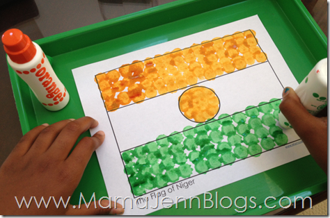 Niger Flag with Do-A-Dot Markers