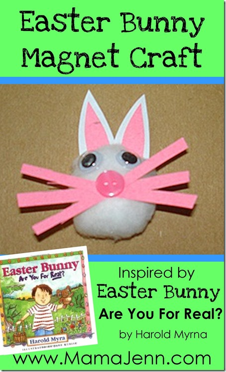 Easter Bunny Magnet Craft inspired by Easter Bunny Are You For Real