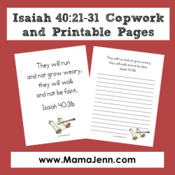 Isaiah 40:21-31 Bible Verse Printables {MFW Creation to the Greeks}