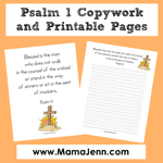 Psalm 1 Bible Verse Printables {MFW Creation to the Greeks}