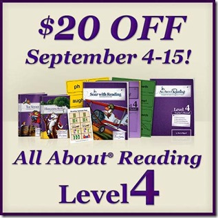 Save $20 on All About Reading Level 4