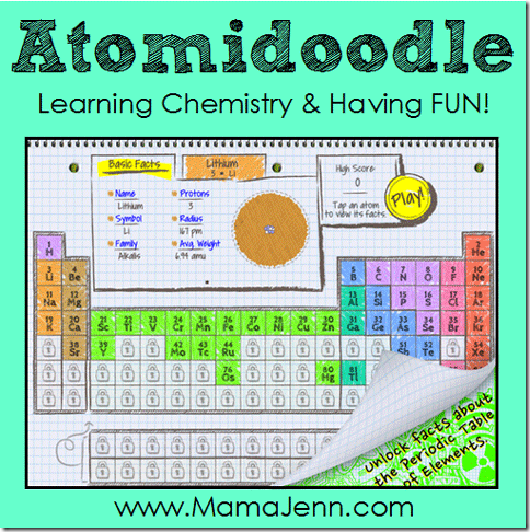 Atomidoodle having fun learning the periodic table atomidoodle educational chemistry app urtaz