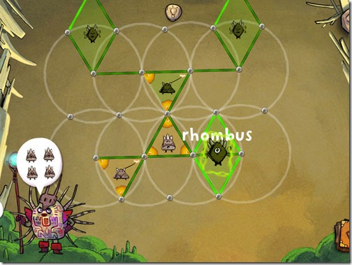 DragonBox Elements Geometry Game Rhombus