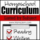 Homeschool Curriculum (listed by subject)