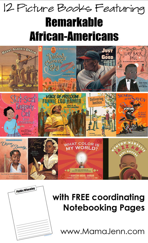 African American Books Notebooking Pages