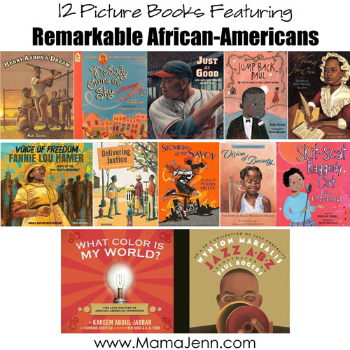 12 Picture Books About Remarkable African-Americans {FREE Printables}