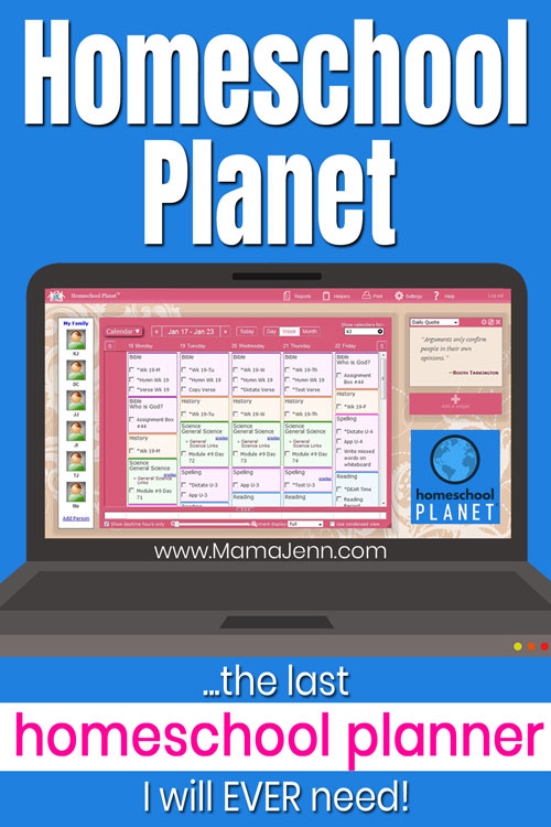 The last homeschool planner I will ever need!