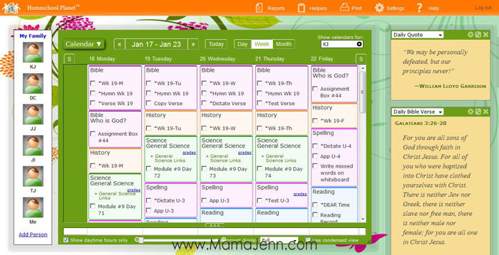 Homeschool-Planet-Planner-Online-Calendar