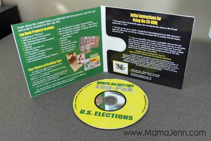 Home School in the Woods US Elections Lap-Pak CD