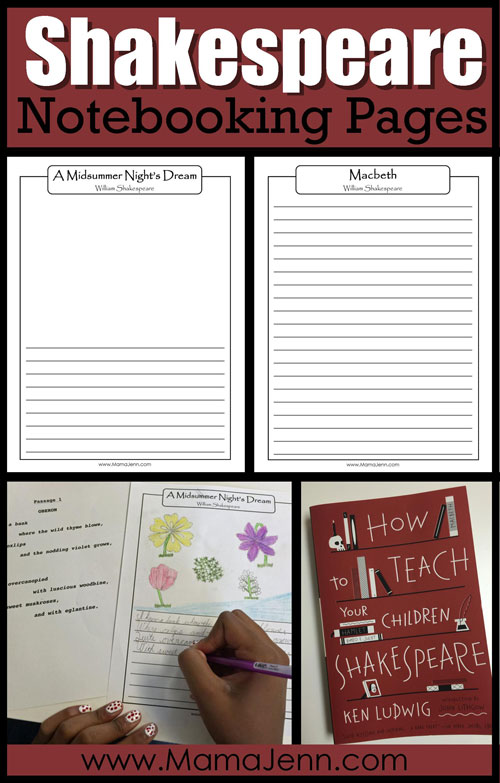 Notebooking Pages for ALL Shakespeare Plays