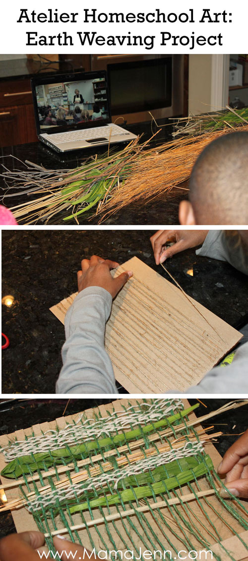 Atelier Homeschool Art Earth Weaving Lesson