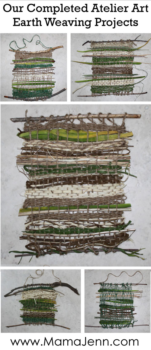 Atelier Homeschool Art Earth Weaving Projects