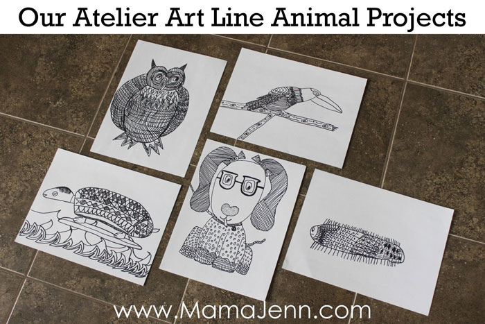 Atelier Homeschool Art Line Animal Projects