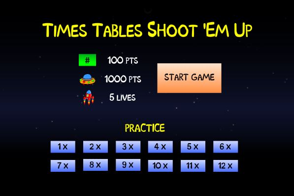Times Tables Online Math Game