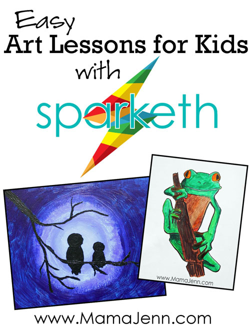 Sparketh ~ Easy Online Art Lessons for Kids