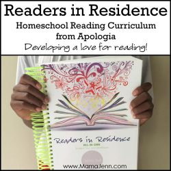 Readers in Residence Apologia Homeschool Reading Curriculum