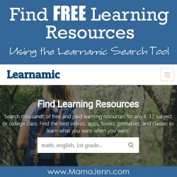 Find Free Learning Resources using Learnamic