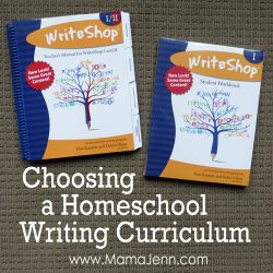 Choosing a Homeschool Writing Curriculum